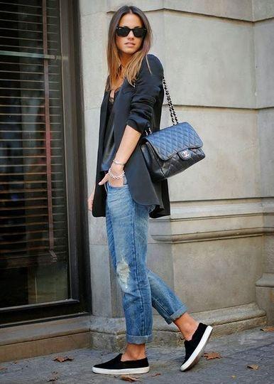 moda fin de semana 2017 saco largo gris