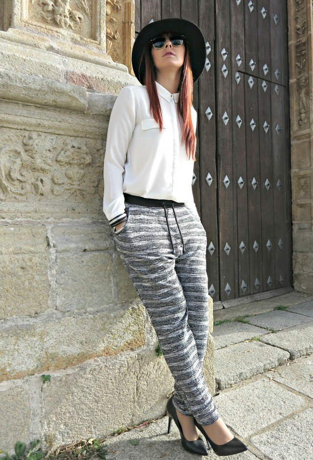 moda fin de semana 2017 pantalón flojo de rayas