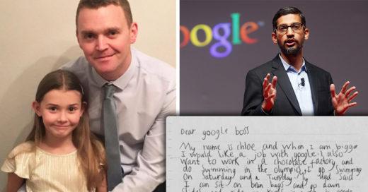Esta niña pidió trabajo en Google y el director CEO contestó a la tierna solicitud