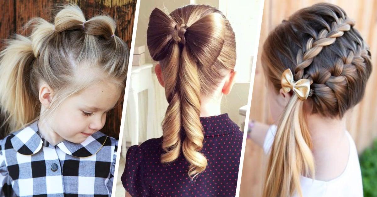 20 Ideas de peinados para niñas que son muy fáciles paso a paso