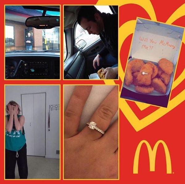 propuesta d ematrimonio con nuggets