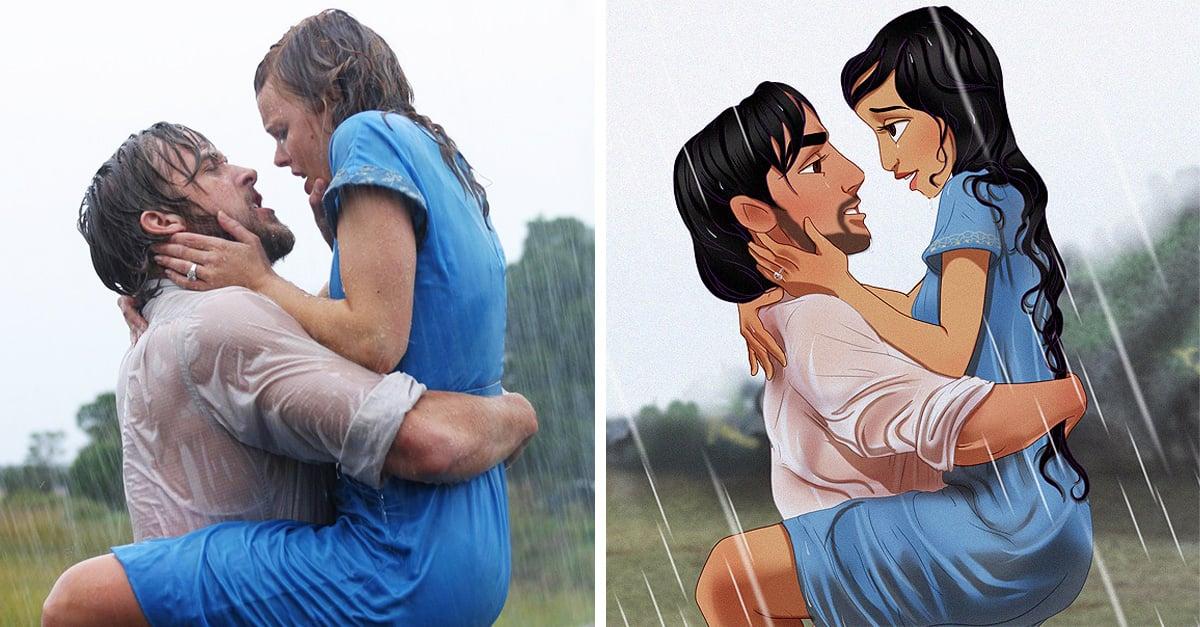Así se verían tus princesas de Disney favoritas si protagonizaran 'Diario de una pasión'.