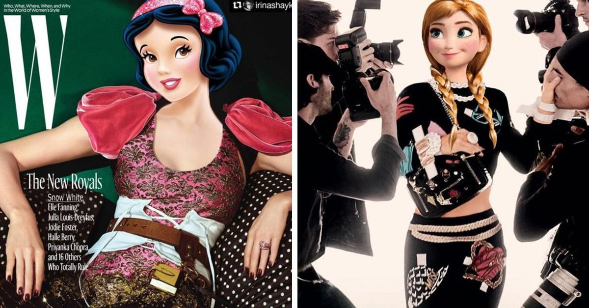 Las princesas de Disney, las nuevas modelos de los diseñadores