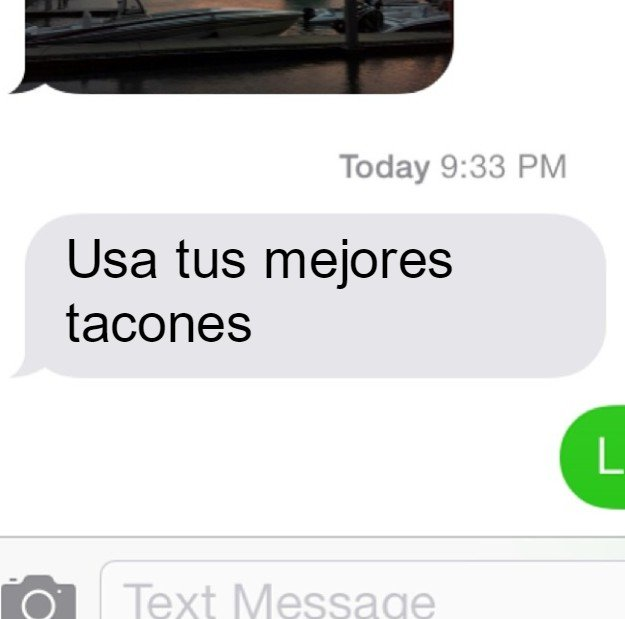 captura de pantalla con texto