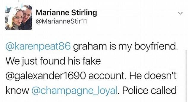 tweet de marianne respecto a jill sharp