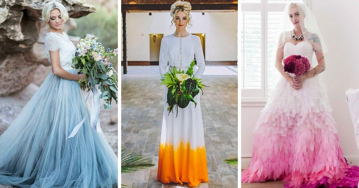 Teñir tu vestido de novia es la nueva tendencia que todas amamos