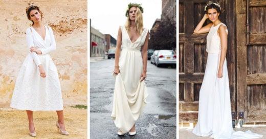 15 vestidos de novia sencillos para las chicas 'millennials'