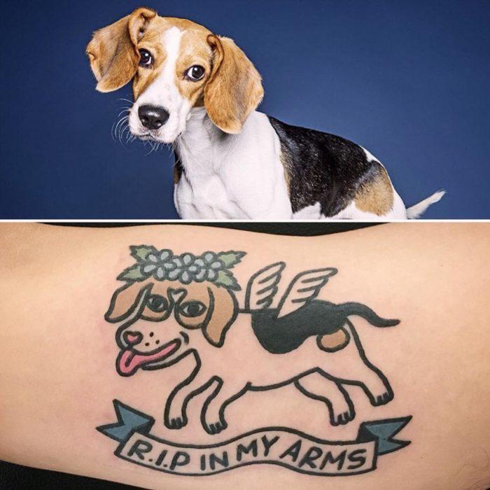foto de perro y tatuaje de perro