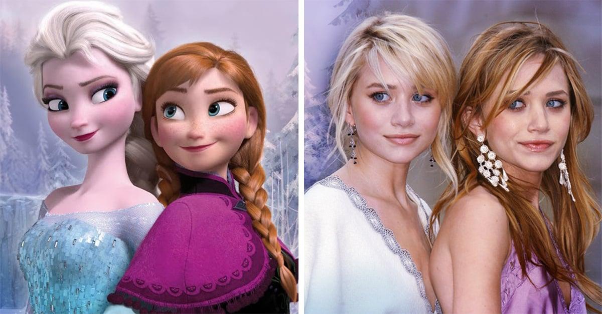 15 Famosos que son idénticos a los personajes de Disney