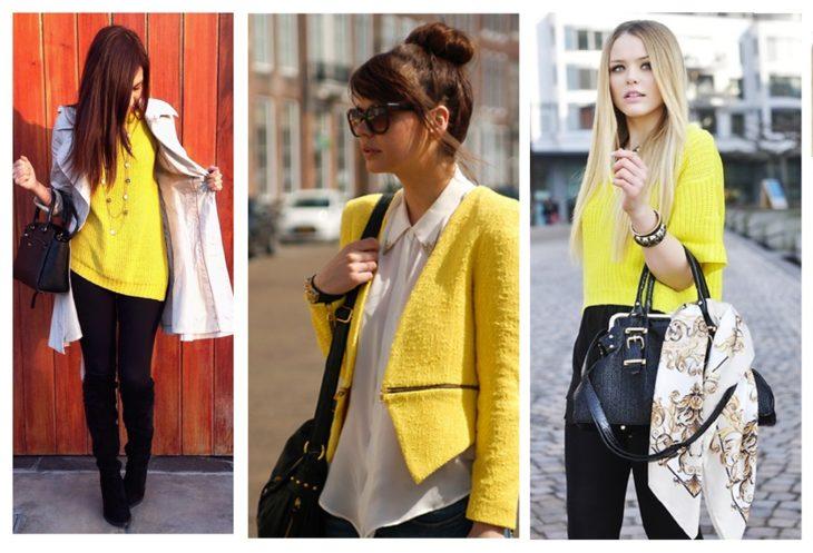 outfit en amarillo