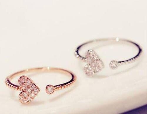anillos corazón