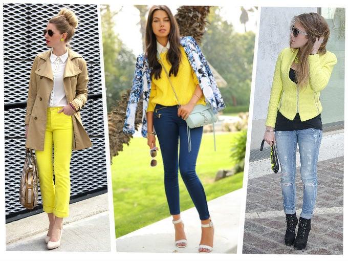 chicas usando amarillo