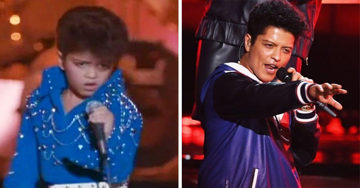 Bruno Mars fue el pequeño imitador de Elvis Presley más adorable de los 90s