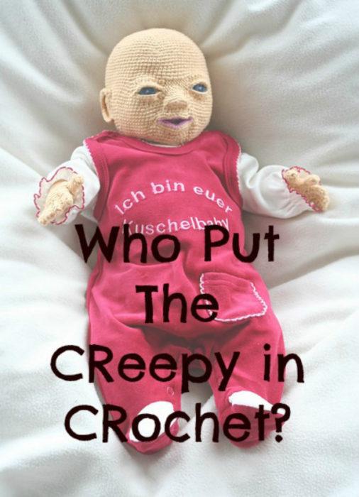 Muñeco hecho de crochet