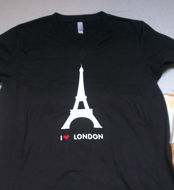 Camisa que dice amo Londres