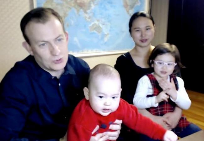 Familia que se hizo viral en Internet