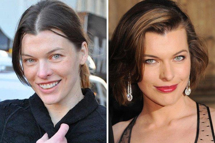 7c8d55e21 30 celebridades que son totalmente diferentes sin maquillaje