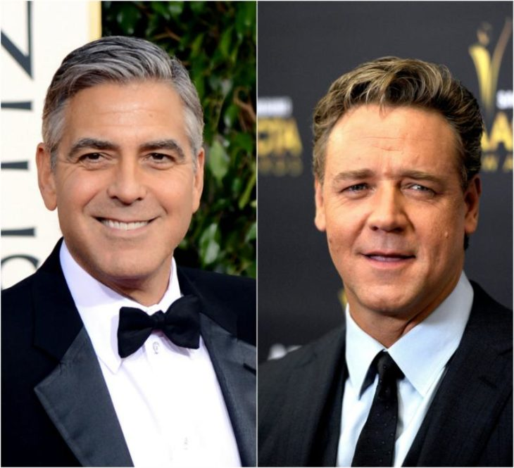 Russell Crowe y George Clooney