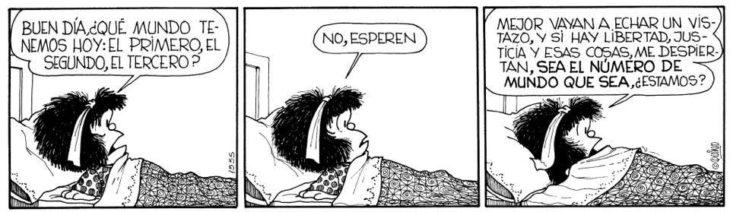 Historieta de Mafalda con frases feministas