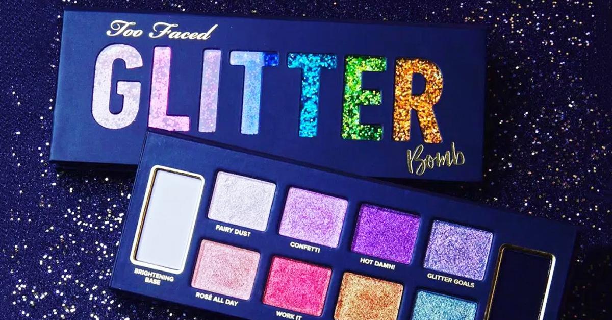 'Glitter Bomb', la paleta de sombras de Too Faced más brillante