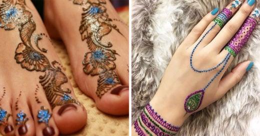 20 tatuajes de henna que te harán brillar