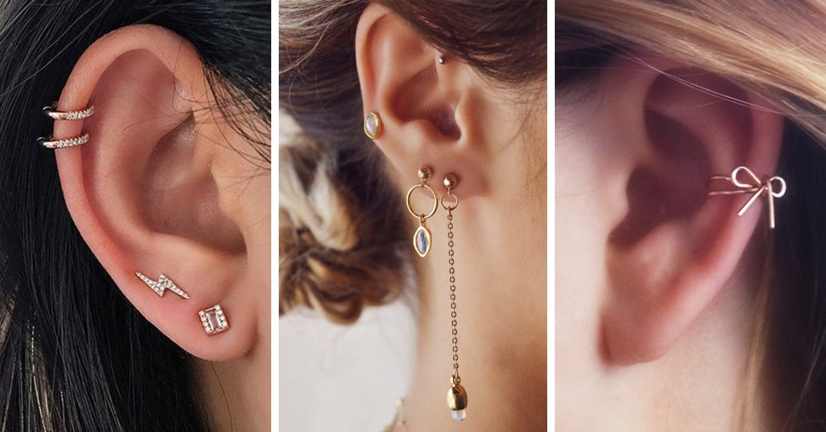 Lindos piercings para tus oidos que deberías usar esta primavera