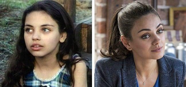 mila kunis antes y después pelis