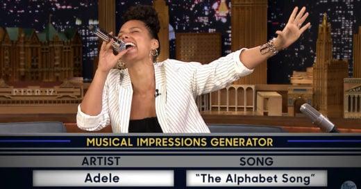 Mira a Alicia Keys imitar a Gwen Stefani y Adele; ¡Es simplemente perfecta!