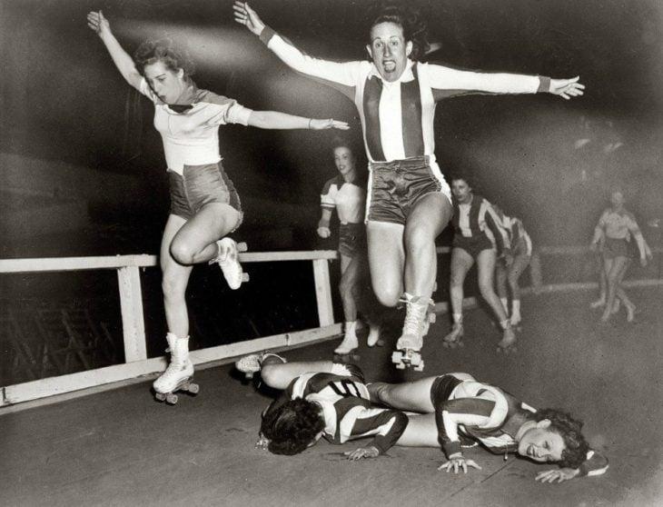chicas patinadoras