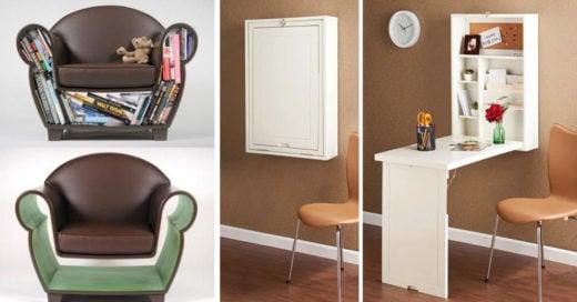20 Originales accesorios para ahorra espacio en tu pequeño departamento