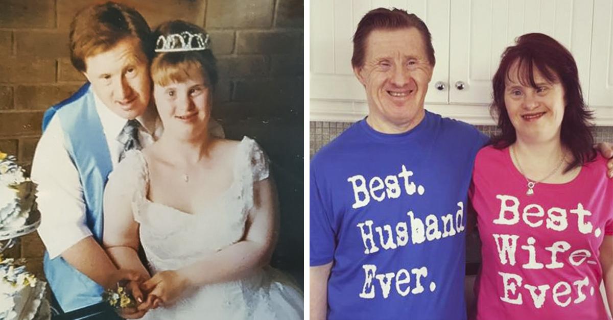 Pareja con síndrome de Down celebra 22 años de matrimonio y es adorable