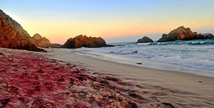 playa arena morada