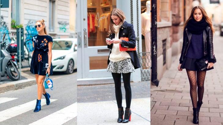 Chicas usando botas hasta los tobillos