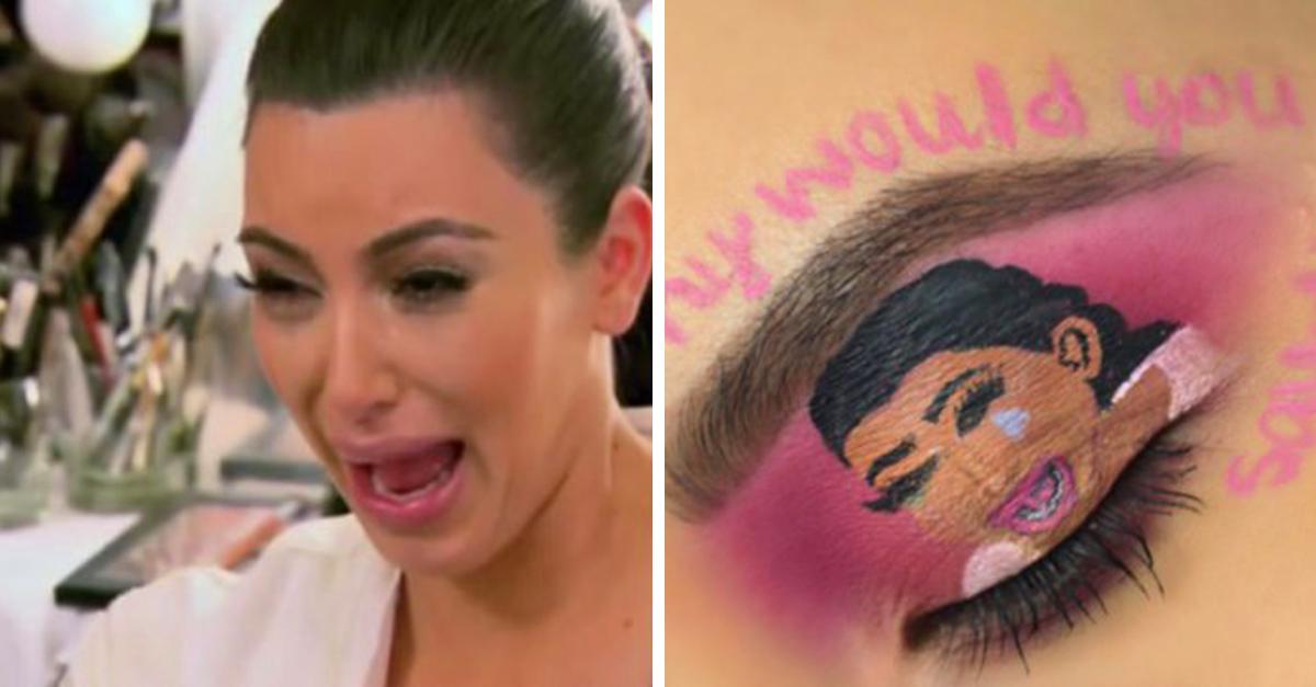 Usan maquillaje para crear divertidos memes en los ojos; el resultado es increíble