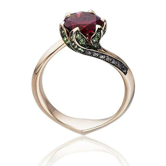 anillo bella y bestia
