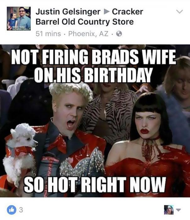 memes la esposa de brad despedida