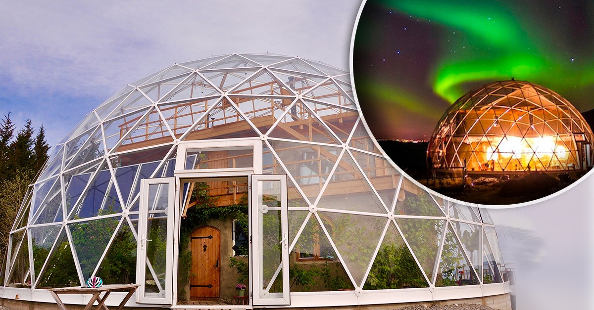 Esta familia construyó una increíble casa el circulo Ártico para ver la nieve caer