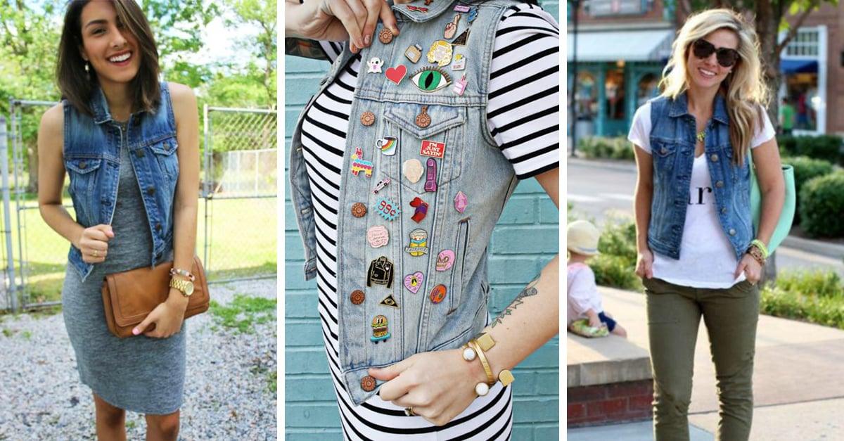 2bee2cd1ff7 20 formas de combinar tu chaleco de mezclilla para un outfit de primavera