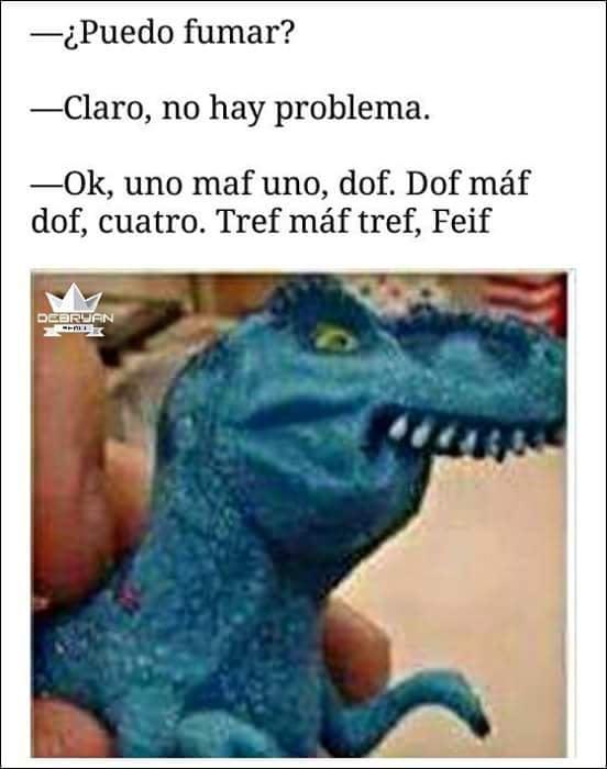 chiste tiranosaurio rex