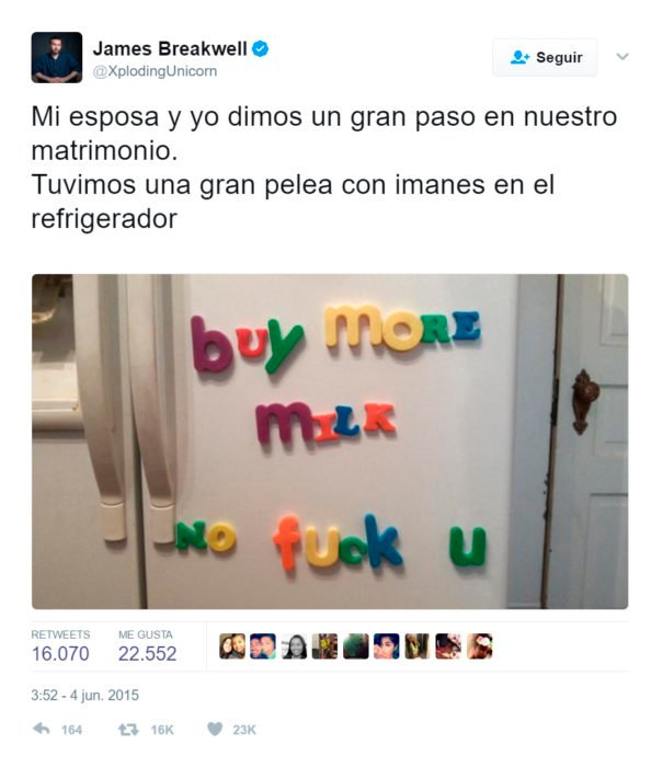 Twitter de como sería la vida de una esposa