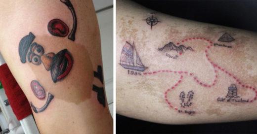15 Personas que tatuaron sus marcas de nacimiento