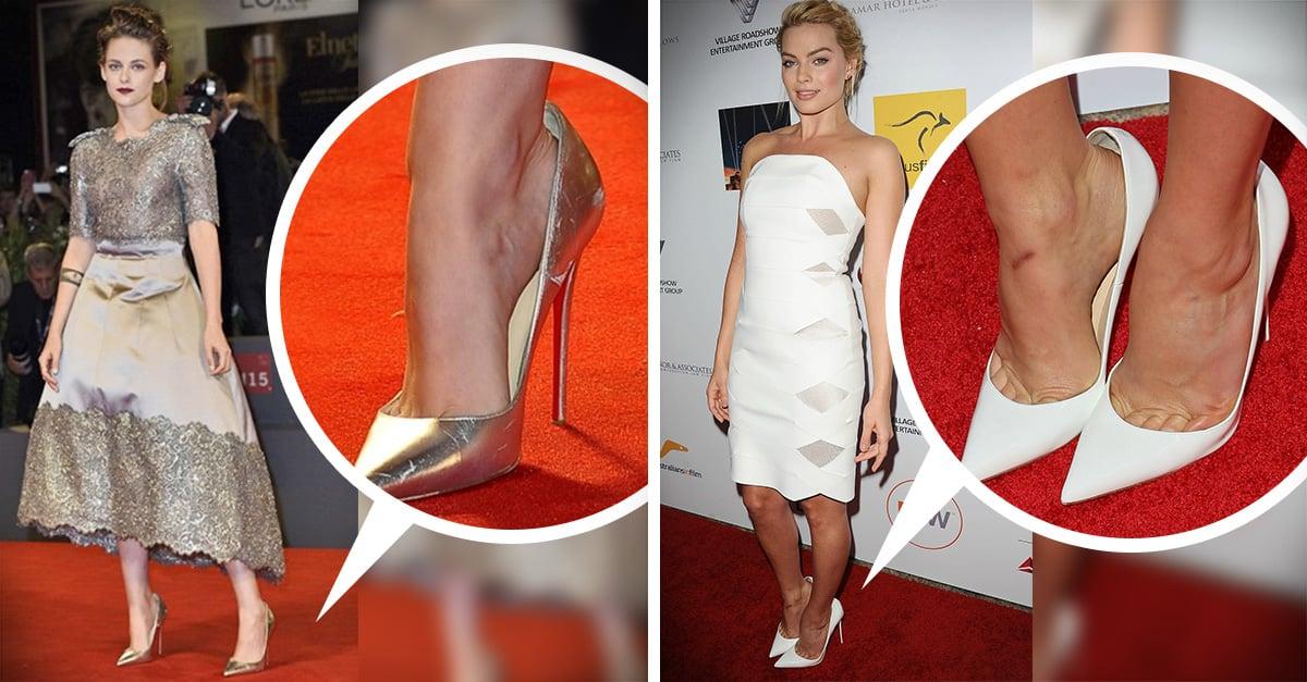 Es por eso que las famosas se ponen zapatos de un número más grande