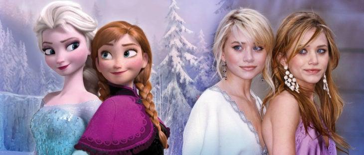 Ana y Elsa de Frozen igual a las gemelas olsen