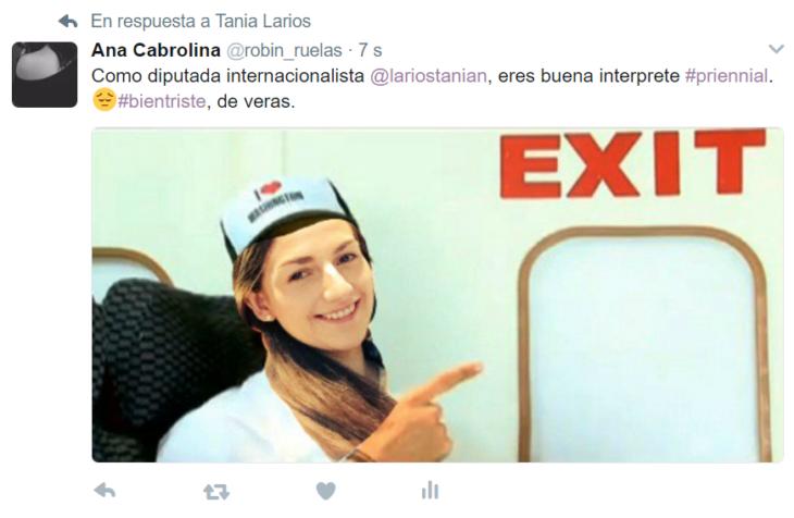 chica con gorra captura de tuiter