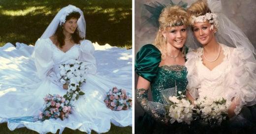 15 Fotografías de vestidos de novia que eran desastrosos pero hermosos
