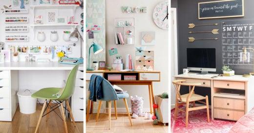 20 Originales ideas para llenar de inspiración tu área de estudio