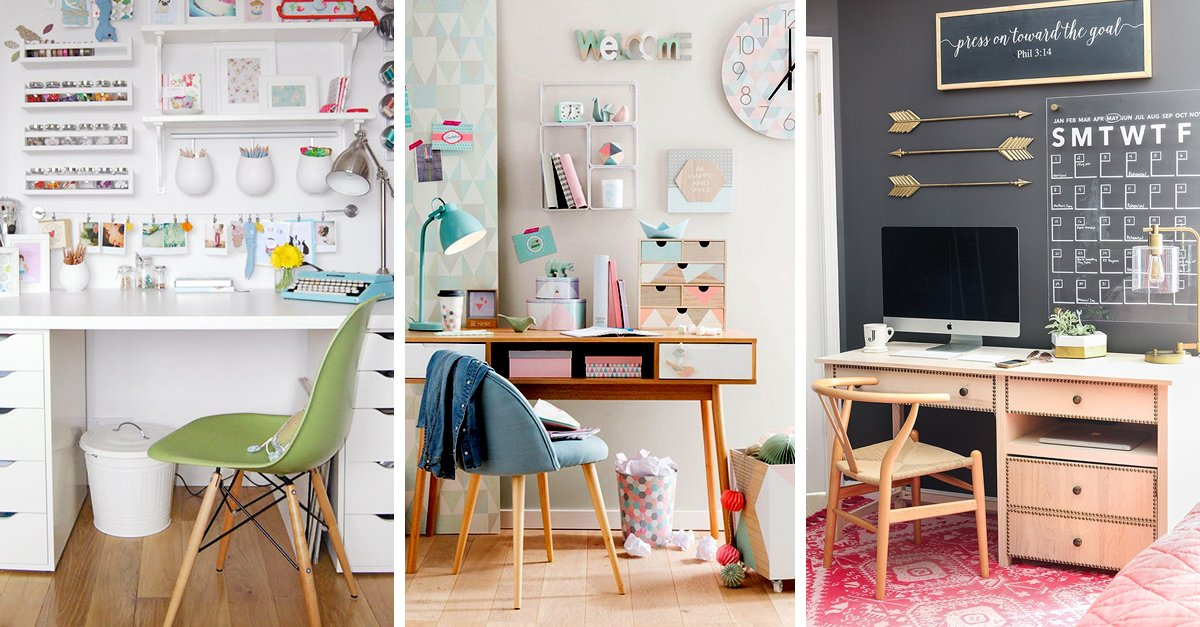 20 incre bles ideas para decorar tu lugar de estudio for Como decorar un estudio