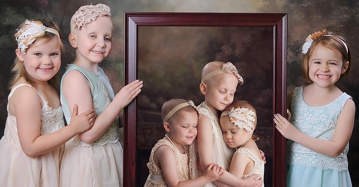 Esta imagen muestra a tres hermosas sobrevivientes de cáncer infantil