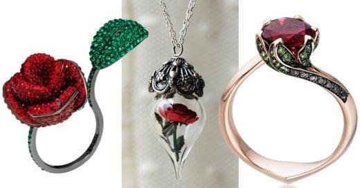 10 Increíbles piezas de joyería inspiradas en 'La Bella y La Bestia' que desearás tener