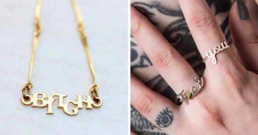 15 Piezas de joyería para las chicas que maldicen en su interior